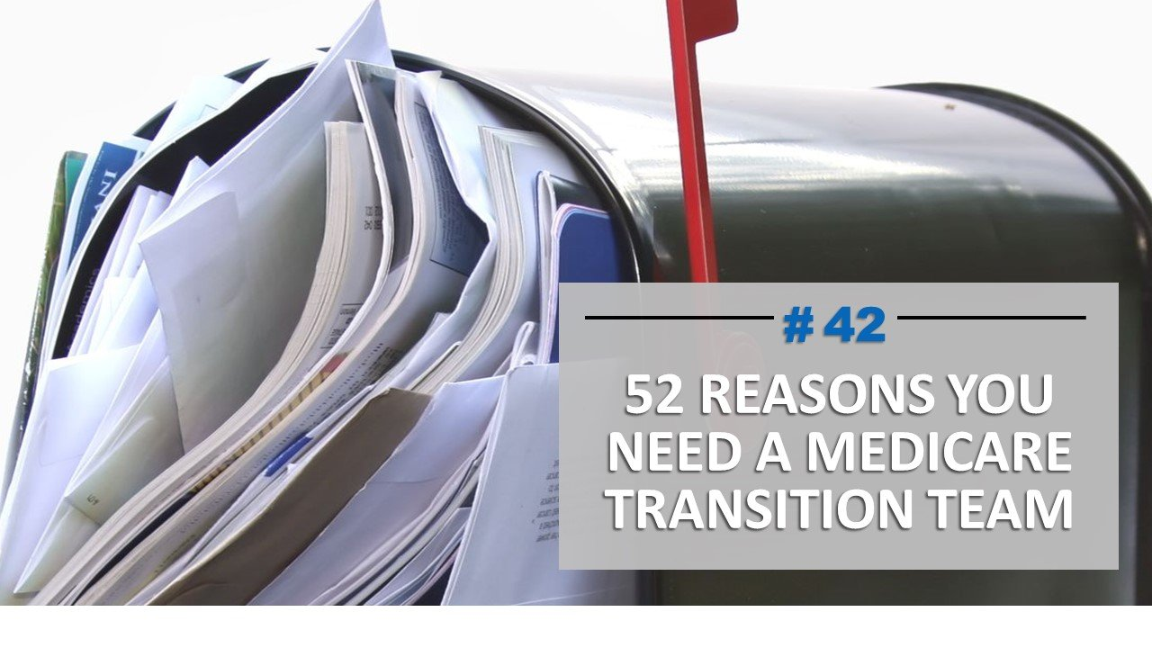 #42 of 52 Reasons you need a transition team
